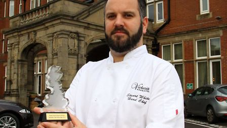 Victoria Hotel's head chef, Stuart White, wins the Seaside Chef of the Year award. Ref shs 4442-47-1