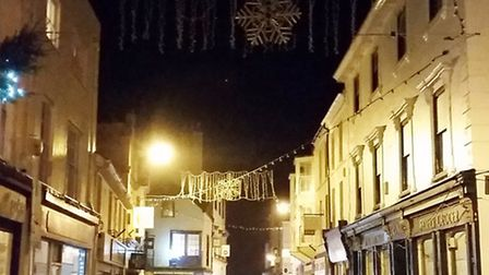 Whole strings of lights in Fore Street were not working this week