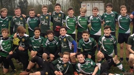 Sidmouth Under-14 rugby team