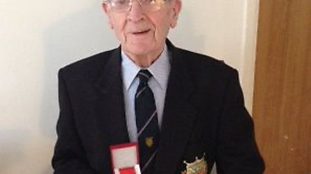 David Murray with the Légion d'honneur, the highest honour awarded by the French government.