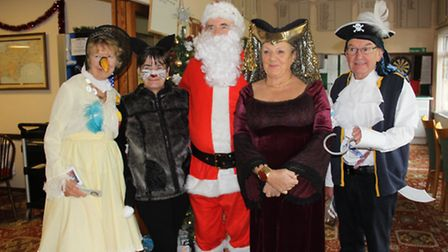 Sidmouth bowlers had a visit from Father Christmas for their festive social event