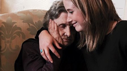 Vikki Carney will be raising money for Dementia UK (pictured with her Nan)