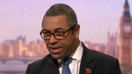 Conservative chairman James Cleverly on BBC's Andrew Marr show. Picture: BBC