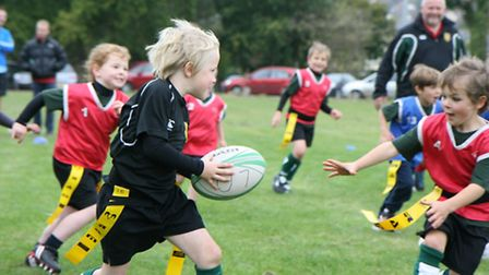 Sidmouth Under-7s action