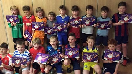 Sidmouth Raiders Under-10s at their 2015 Christmas party