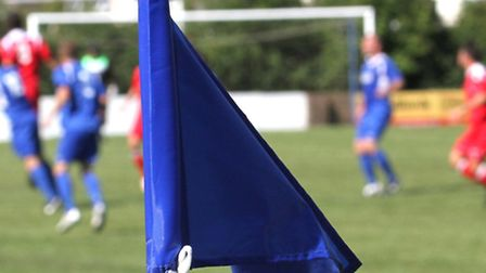 Football flag. Ref exsp 7256-33-15SH. Picture: Simon Horn