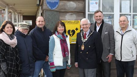 The new defibrillator now installed at the Sidmouth Tennis, Cricket and Croquet Club. Ref shs 7591-4