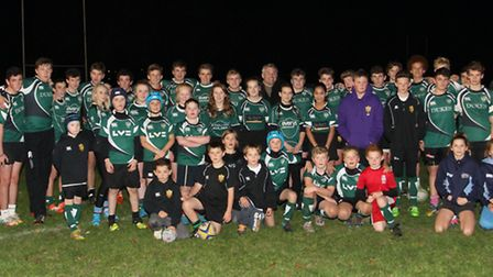 Former England rugby union prop forward and RFU President Jason Leonard OBE visited Sidmouth Rugby C