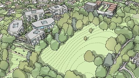An ariel view of the PegasusLife plans for Knowle.