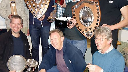 Trophy winners at the Devon and Somerset Gliding Club awards