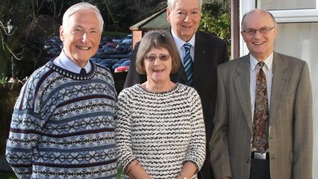 The Sidmouth Friends of the Samaritans held their AGM this week. Pictured are chairman Sue Kensdale