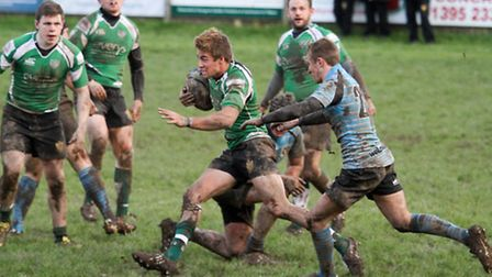 Sidmouth chiefs at home to Cullompton. Ref shsp 03-16TI 9557. Picture: Terry Ife