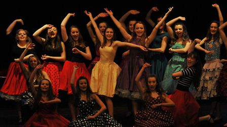 A scene from Sidmouth Youth Theatre's production of West Side Story.