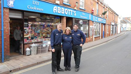 Chris, Viv and Jeff Abbbott of Abbotts DIY have thanked customers for helping them reach the UK Hard
