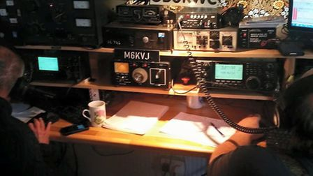 The equipment at the Sidmouth Amateur Radio Society