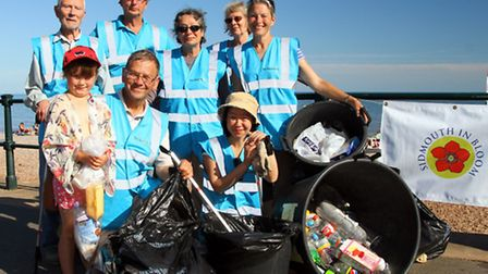 The Sidcombers at a beach clean last year. Ref shs 6959-33-15AW. Picture: Alex Walton