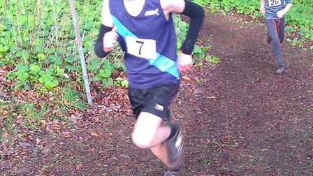 Sidmouth runner Joe Ashby at the Devon Schools Cross Country Championships
