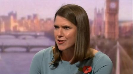 Jo Swinson speaking on BBC's The Andrew Marr show. Picture: BBC