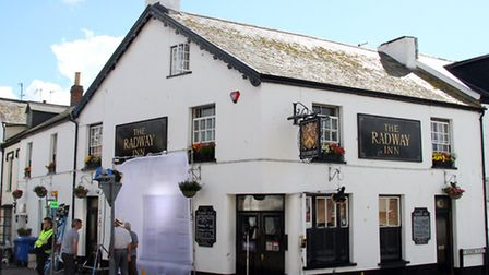 Filming at The Radway Inn for Robin's Test last summer. Ref shs 8063-36-15AW. Picture: Alex Walton