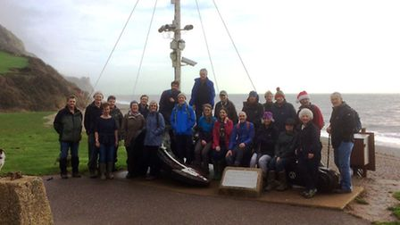 The volunteers enjoy a Christmas get together at Branscombe. Photo by Steve Edmonds.