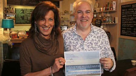 Aly Dickenson and Adrian Eden are the organisers of the Death Cafe. Ref shs 8870-01-16TI. Picture: T