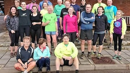 Sidmouth runners at at the Boxing Day meeting