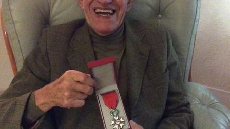 Derek Pedder received the Legion d'honneur award from the French government for his service in the S