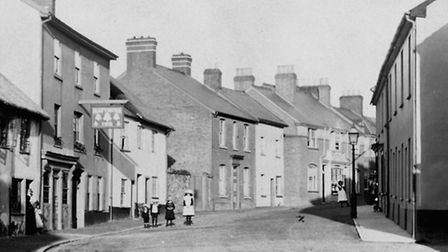 The Five Bells, in Ottery St Mary. This picture was taken around 1910, when it was known as the Matt