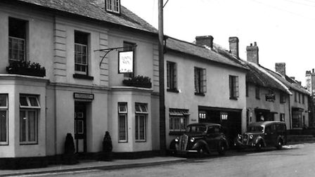 The Rising Sun, in Sidford. This picture shows the pub around 70 years ago.