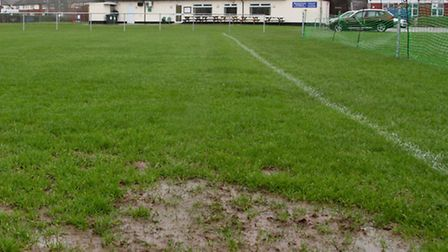 Sidmouth football pitch at the weekend. Ref shsp 06-16TI 0482. Picture: Terry Ife