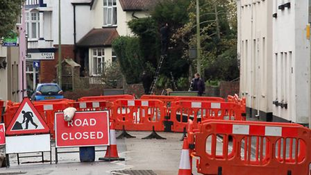Temple Street will be closed for the next few weeks. Ref shs 2363-03-16SH. Photo Simon Horn