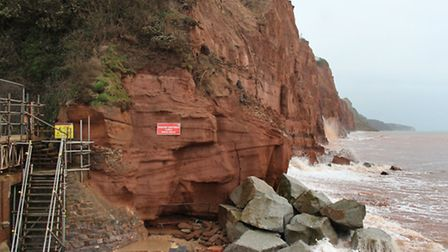Cliffs east of the river mouth this week. Ref shs 06-16SH 4002. Picture: Simon Horn