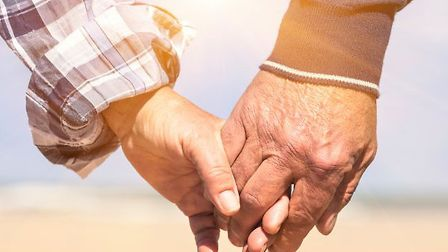 A senior couple in love. Moinca Pearson wants to play Cupid and match over-60s in Sidmouth.