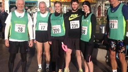 The Sidmouth runners who took part in the Fulfords Five.