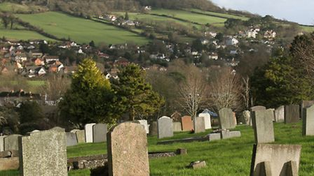 A view of Sidmouth Cemetery with Salcombe Hill behind. Ref shs 05-16SH 3715. Picture: Simon Horn
