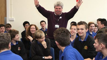 Victorious- councillor Phil Twiss won the political speed dating event at the King's School this wee