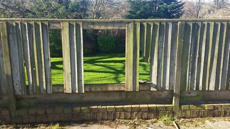 Police are appealing for information after vandals targeted the Tumbling Weir's fence