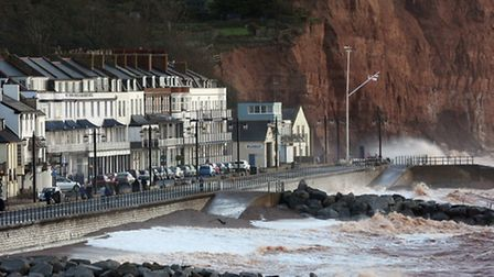 The sea at Sidmouth.