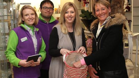 Olympian Mary King was called upon to make the CHSW Valentine's draw at Temptations gift shop in the