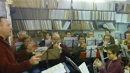 Sidmouth Town Band has to squeeze into its current HQ
