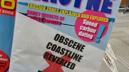 This mocked-up 'Sensational Groyne' magazine is part of a quirky art exhibition on cliff erosion at