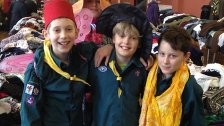 Ottery Scouts at the 2015 jumble sale.