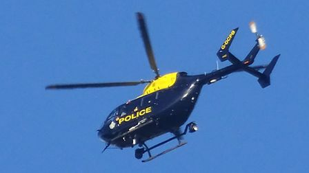 The police helicopter. Stock photograph. Picture: Simon Horn