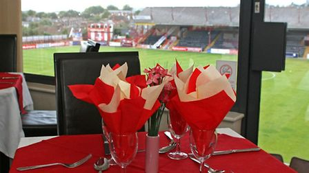 VIP hospitality at Exeter City FC.