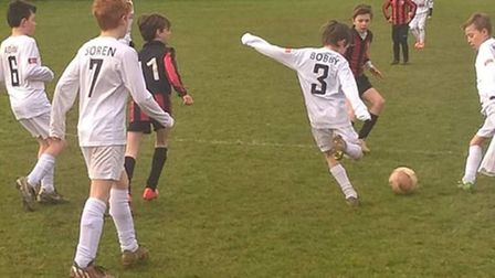 Sidmouth Raiders Under-11 action
