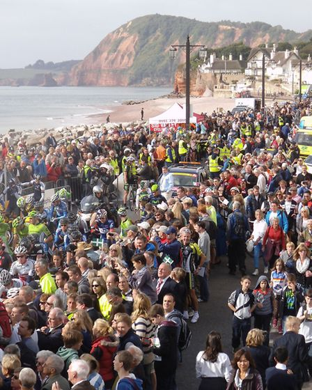 Flashback: Thousands of people turned out to see the Tour of Britain in Sidmouth in 2013.