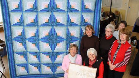 Sidmouth Quilters and Patchers members - Christine Pike, Christine Badger, Pam Butlin, Barbara Poole