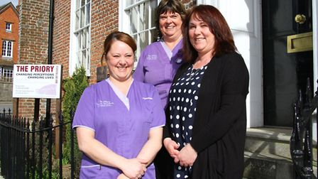 Sharon Carter, Hazel Skinner and Hilary Carter from The Priory celebrate having passed a recent insp