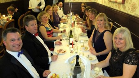Gig Club members enjoying their meal at the Royal York & Faulkner hotel. Their evening dress makes