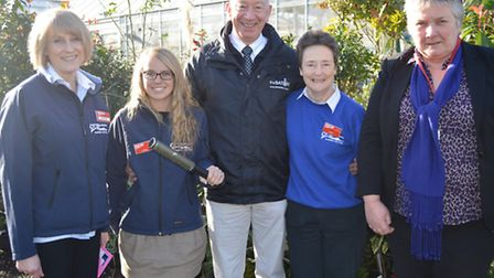 Otter Nurseries team with Alan Rowe from The Baton